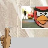 Det gælder om at tvære myggene ud med tommelfingeren - og jo flere, jo bedre - i »Mosquito Smasher« - det afrikanske svar på »Angry Birds« (indsat billede).