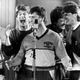 Fodboldlandsholdet indspiller landeplagen Re-Sepp-Ten i 1986 inden de tager til VM i Mexico.