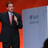 HPs tidligere topchef, Mark Hurds indtræden i direktionen hos konkurrenten Oracle betød en omgående stævning. Foto: Justin Sullivan, AFP/Scanpix