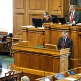 ARKIVFOTO. Venstres næstformand Kristian Jensen vil afskaffe spørgetimen, hvis statsministeren alligevel ikke vil svare på spørgsmålene.