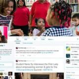 USAs first lady Michelle Obama er blandt de kendte brugere af Twitter, der allerede har fået det nye profildesign.