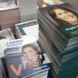 LaserTryk har lavet 65000 valgplakater for 400 kandidater. Her Venstre og Det Konservative Folkeparti.