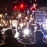 Arkivfoto fra en tidligere Pegidadk-demonstration i København.