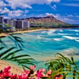 Waikiki-stranden på Hawaii.