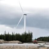 I juli købte Envision sig dog ind i et 25 MW-projekt i Sverige for at få fodfæste i Europa. Her ses Testcenter Østerild, hvor én af vindmøllerne er udlejet til kinesiske Envision.