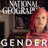 Niårige Avery Jackson fortæller i januar-nummeret af National Geographic sammen med sine forældre om det at være født i en drengekrop og føle sig som pige. Magasinet har besøgt transkønnede børn på fire kontinenter for at belyse fænomenet. ?Foto: National Geographic