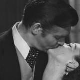 """Clark Gable og Vivien Leigh som et af filmhistoriens berømteste par, Rhett Butler og Scarlett O'Hara i """"Borte med blæsten"""". Arkivfoto: Scanpix"""
