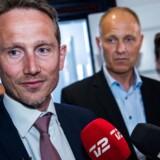 Finansminister Krisitan Jensen (V) og KL-formand Martin Damm (V) ved præsentationen af en økonomiaftale for kommunerne i 2018.