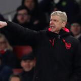 Arsenal-manager Arsène Wenger måtte se sit hold tabe 1-2 torsdag aften til svenske Östersunds FK. Arsenal avancerede dog trods nederlaget og møder AC Milan i ottendedelsfinalen. Scanpix/Peter Cziborra