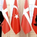 Lars Løkke Rasmussen under et pressemøde med Tyrkiets premierminister Yildirim i Ankara i december 2016.