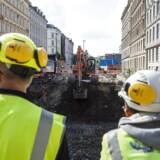 Byggeplads ved metrostationen København H. (Arkivbillede)