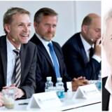 »Direkte til historiebøgerne,« mener Berlingskes Thomas Larsen, hvis de blå partiledere ikke formår at lande en fælles aftale. Fotos: Scanpix