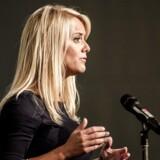 Nye Borgerlige holder årsmøde i Vejle. Pernille Vermund på talerstolen.