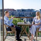 Michael Sørensen og Anne-Louise Skovgaard købte lejlighed på Islands Brygge i 2017. Parret har valgt lån med fast rente og afrdrag. »Det giver en enorm tryghed,« siger Anne-Louise Skovgaard Eriksen.