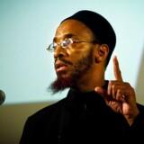 Prædikant Khalid Yasin har fået indrejseforbud i Danmark. Her ses han til et arrangement i Nørrebrohallen.