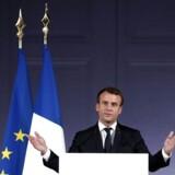 Indsatsen skal styrkes, hvis FN's klimamål skal nås, mener Frankrigs præsident Emmanuel Macron.