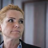 Integrationsminister Inger Støjberg ved pressemøde om indvandreres uddannelse med DA, LO og KL.