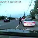 Et stillbillede af den videooptagelse, politiet tog i juli 2016, hvor en betjent skød og dræbte Philando Castile i delstaten Minnesota i USA.