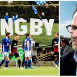 Viceborgmester i Lyngby-Taarbæk Kommune, Simon Pihl Sørensen (S) tror på Lyngby Boldklubs fremtid. Foto: Niels Ahlmann Olesen