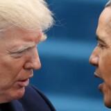 Præsident Donald Trump blev lykønsket af sin forgænger ved sin indsættelse som præsident den 20. januar. Efterfølgende har Trump kaldt Obama for en »syg« person, og nu kræver han tillige en undskyldning. REUTERS/Carlos Barria/File Photo. (Foto: © Carlos Barria / Reuters/Scanpix 2017)