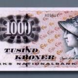 Der er ikke behov for en 1000-kroneseddel, mener Enhedslisten. Dansk Erhverv og Ældresagen er enig. Scanpix/Danmarks Nationalbank