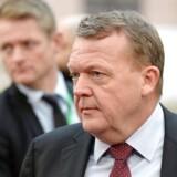 Statsminister Lars Løkke Rasmussen (V) ved ankomsten til årets sidste EU-topmøde. / AFP PHOTO / THIERRY CHARLIER
