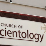 Et skilt til Scientology i Sydney, Australien. Arkivfoto. AFP PHOTO / Greg WOOD