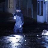 Forhøjet vandstand i Dragør by. Flere veje er kl 17 allerede oversvømmet og huse er truet.