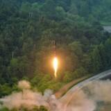 Nordkorea affyrede tirsdag et interkontinentalt ballistisk missil. Arkivfoto.