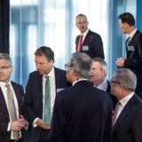 Tirsdag d. 20 februar afholdte A.P. Møller-Mærsk kapitalmarkedsdag i Operaen. Her ses Vincent Clerc, Jakob Stausholm, Claus V. Hemmingsen, Morten H. Engelstoft og Søren Skou.