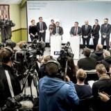 Statminister Lars Løkke Rasmussen og regeringen præsenterer det nye ghetto-udspil: Ét Danmark uden parallelsamfund - ingen ghettoer i 2030 i Mjølnerparken i København.