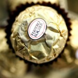 FILE PHOTO: A Ferrero Rocher chocolate is seen in Milan November 20, 2009. REUTERS/Stefano Rellandini/File Photo