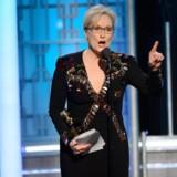 Meryl Streep under sin Golden Globe-tale natten til mandag.