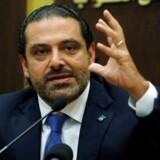 Arkivfoto: Saad al-Hariri vil tage til Beirut inden for 48 timer for at gå af formelt. Derfra tager han til Paris.