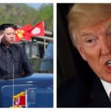 Nordkoreas leder Kim Jong-un og den amerikanske præsident Donald Trump. Foto: KNCA/Handout via Reuters/REUTERS/Jonathan Ernst