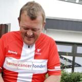 Arkivfoto. Lars Løkke Rasmussen besøger Tour de France med Frankrigs præsident, Emmanuel Macron.