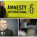 Trump foto: EPA/ Andrew Harrer / POOL, Amnesty foto: Spencer Platt, Lars Løkke foto: Asger Ladefoged/Scanpix 2017