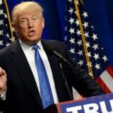 New Hampshire 13.juni 2016: Den Republikanske præsidentkandidat Donald Trump taler i Manchester, New Hampshire.