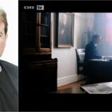 Foto: Asger Ladefoged og et screendump fra 10. afsnit af serien »Historien om Danmark«, hvori Jens Otto Krag portrætteres.