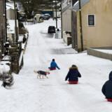 Stormen Emma kombineret med sibirisk kulde koster briterne kassen. Her er vi i Wales. Reuters/Rebecca Naden/arkiv