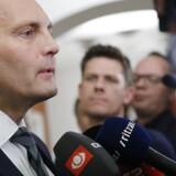 DFs Peter Skaarup mener ikke, at miljø- og fødevareminister Esben Lunde Larsen (V) har brudt ministeransvarlighedsloven, selv om partiet har beskyldt ham for at lyve. Scanpix/Jens Astrup