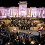 Det gamle amfiteater i Palmyra var torsdag rammen om en koncert, efter at IS er fordrevet fra området.