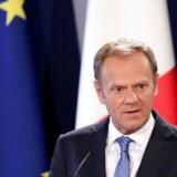 Formanden for Det Europæiske Råd, Donald Tusk, levner ingen tvivl om, at EU ønsker at dirigere udmeldelsesforhandingerne med Storbritannien. Foto: Domenic Aquilina/EPA