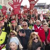 OK18 demonstration: Skulder ved skulder - En løsning for alle på Bertel Thorvaldsens Plads i København tirsdag den 10. april 2018. (foto: Martin Sylvest/Scanpix Ritzau 2018)