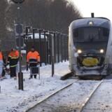 ARKIVFOTO. Da et tog kørte af sporet tæt ved Odense tirsdag aften, blev skinnerne påført så stor skade, at togtrafikken først vil forløbe normalt igen torsdag.