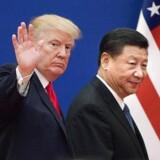 Donald Trump og Xi Jinping. / AFP PHOTO / Nicolas ASFOURI / TO GO WITH China-politics-diplomacy, ANALYSIS by Ben Dooley