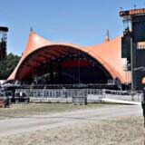 I mere end en uge har blandt andet teleselskaber knoklet for at sikre, at alle har dækning på landets største festival, Roskilde Festival, når det virkelig brager løs. Arkivfoto: Jens Nørgaard Larsen, Scanpix