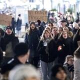 En demonstration mod voldtægt i Malmø 19. december 2017 i kølvandet på tre voldtægter på en måned. Arkivfoto.