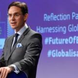 Onsdag fremlagde EU-Kommissionen et nyt arbejdspapir, der skal danne grundlag for fremtidige beslutninger om EU's holdning til globaliseringen. Her er det Jyrki Katainen, EU-kommissær for beskæftigelse, vækst, investering og konkurrenceevne.