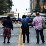 Eksplosionen ramte West 23rd Street i lørdags, der er et af New Yorks fashionable kvarterer. 29 personer blev såret - heraf en alvorligt.